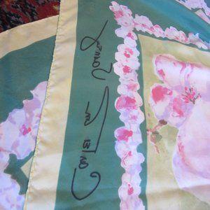 carleton varney Accessories - Carleton Varney Cherry Blossom Spring Silk Scarf
